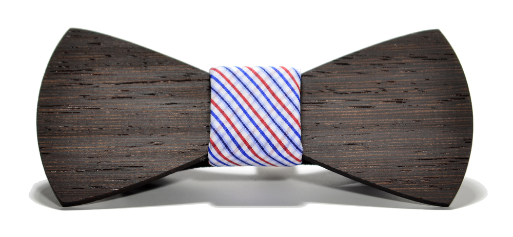 The Captain Wenge Traditional Cotton Wooden Bow Tie
