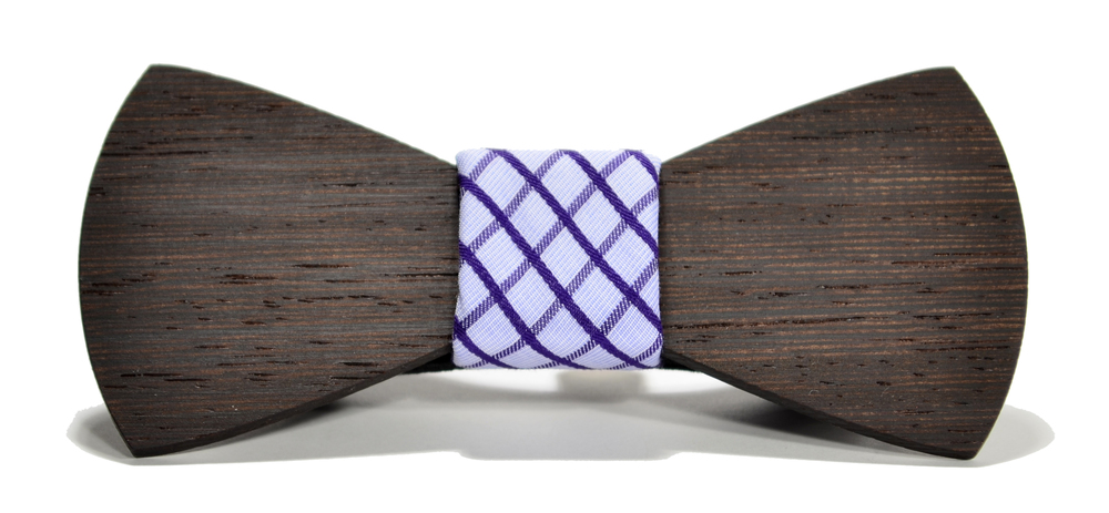 The Manhattan Wenge Traditional Cotton Wooden Bow Tie