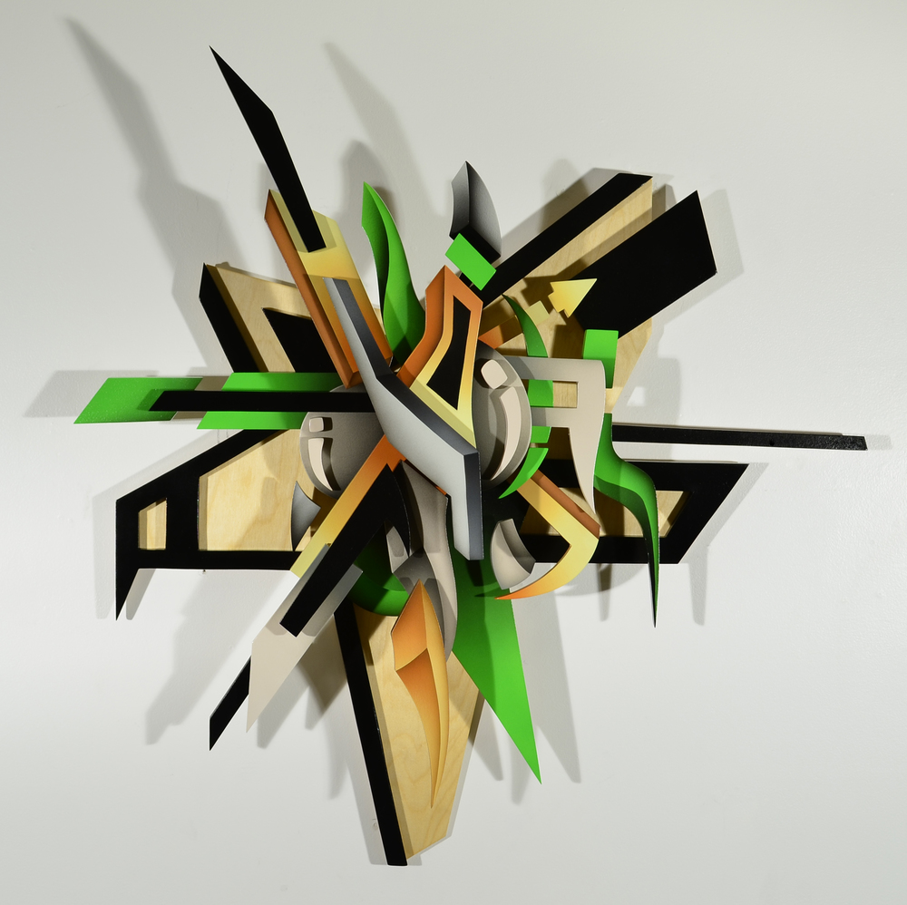 Shock Front 3D Wood Art