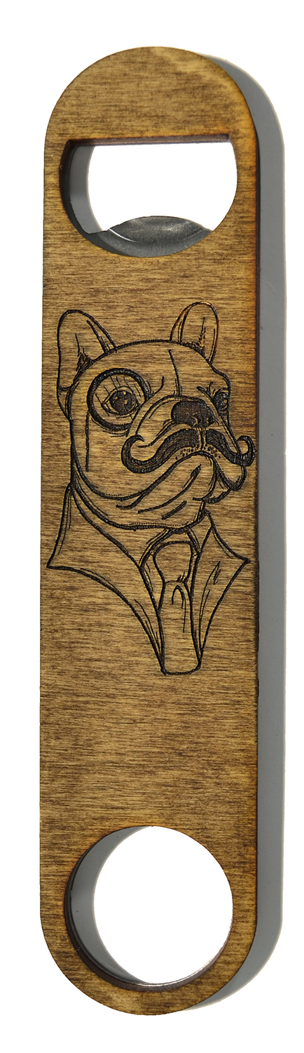 wooden bottle opener french bulldog