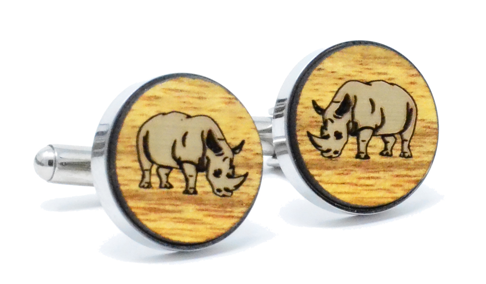 Golden Rhino Cufflinks Canary