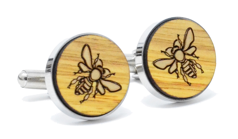 Golden Bee Cufflinks Canary