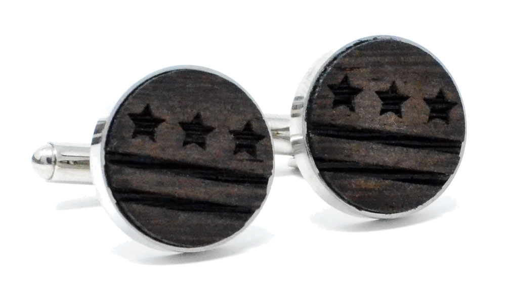 DC Flag Cufflinks Wenge