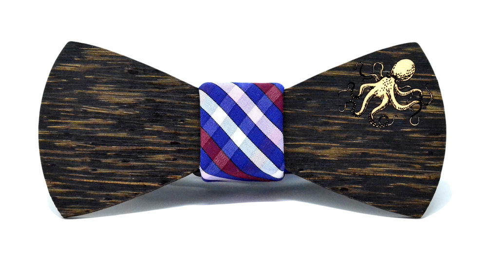 Octopus golden overlay bow tie