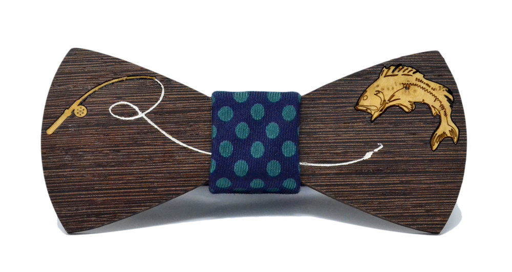 Inlay Fishing Bow tie