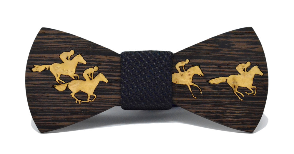 Inlay Horse Race Bow Tie