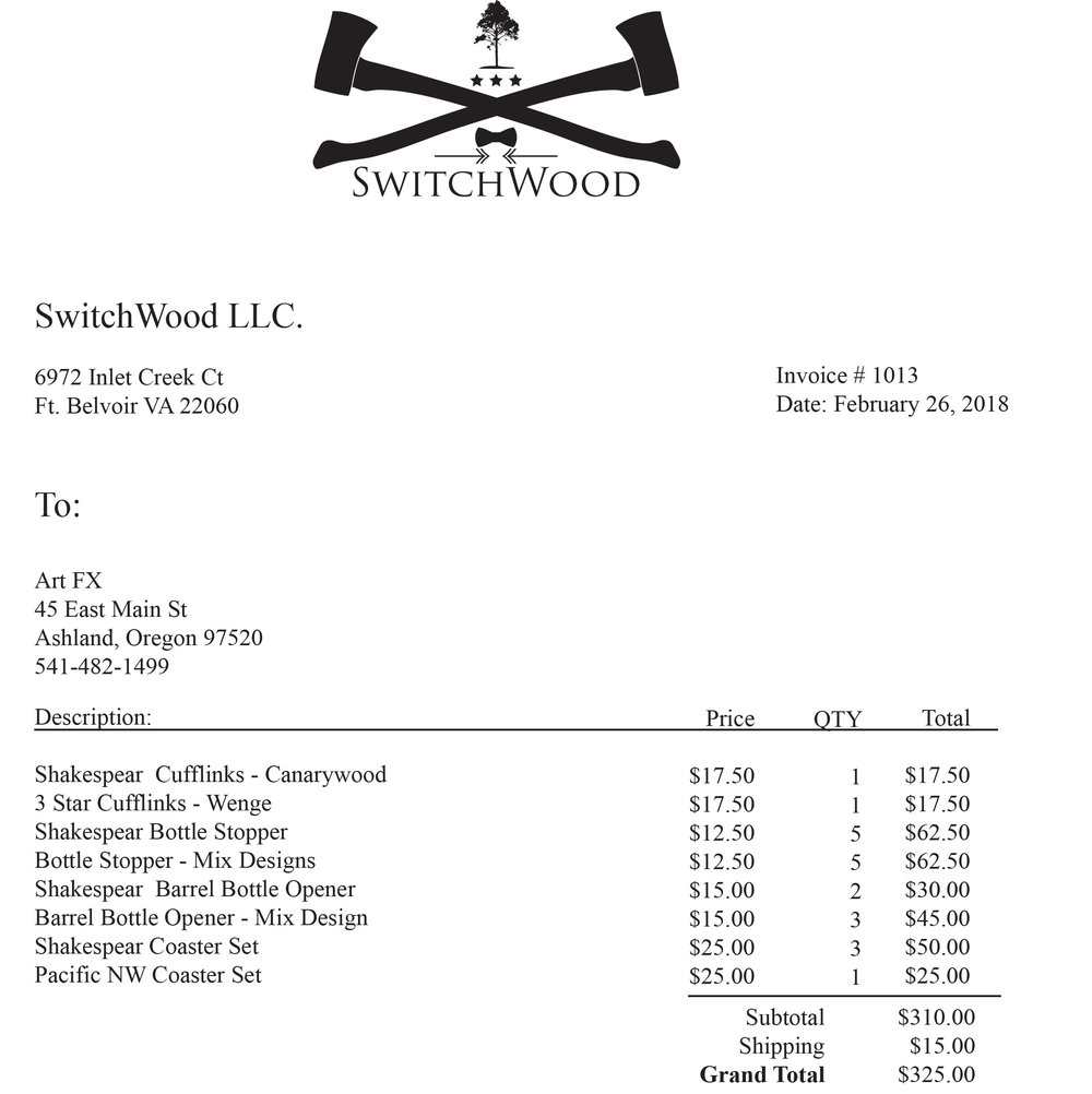 Switchwood Invoice 1013