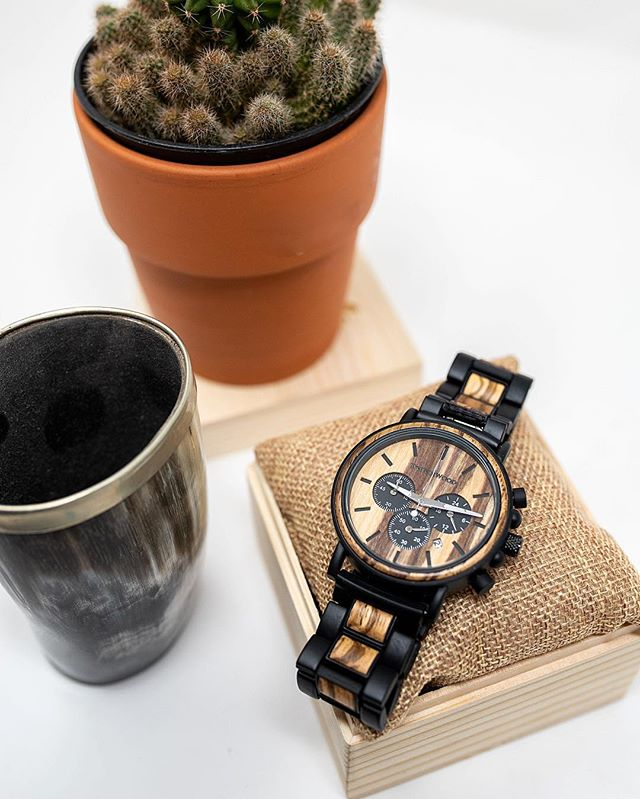 C H•R•O•N•O S  one of our newest watches! Shop online. Link in profile☝️ . . . #woodwatch #pinchme #cactus #dontbeaprick #inspiredbynature #woodwork #mixmaterial #denver #colorado #smallbusiness #ebonywood #woodwork #zebrawood #stainlesssteel #watches #epicpass #newwatch #entrepreneurlife