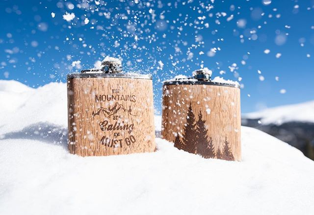 Diamond dust #blueskies . . . #switchwood #photooftheday #instagood #laseretching #themountainsarecalling #flask #drinking #pines #custom #wine #recliamed #recycled #staywild #keepclassy #entrepreneur #woodwork #entrepreneurlife #boss #breckenridge #colorado #explorecolorado #rockies #snow #winter
