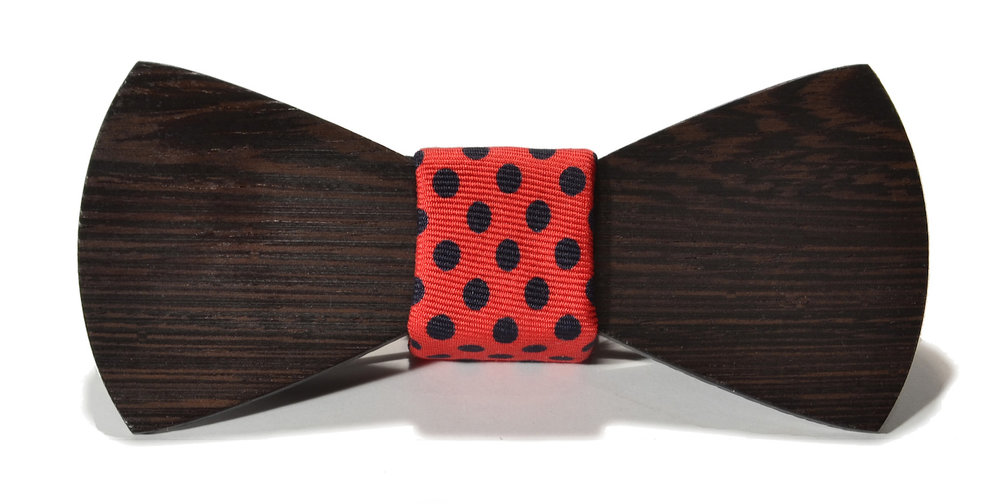 The monroe interchangeable wooden bow tie wenge traditional