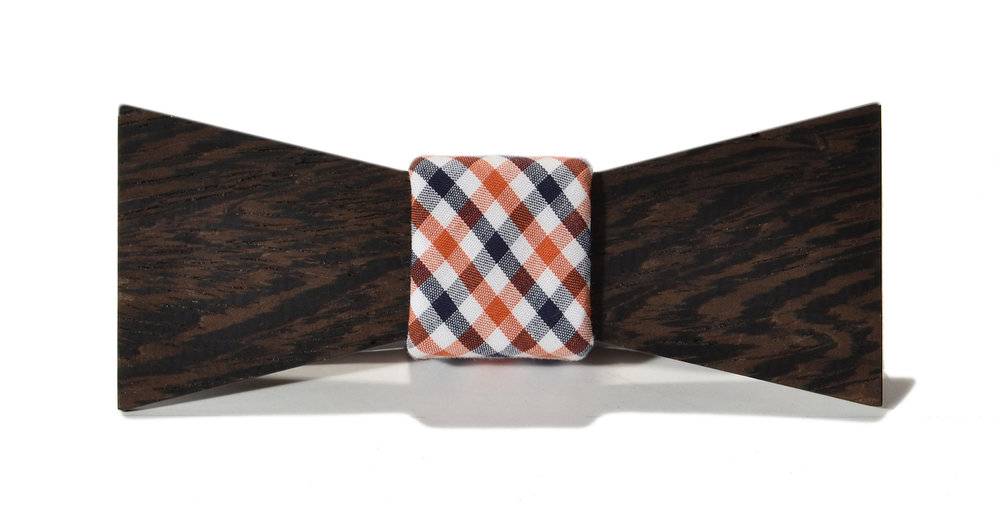 the clark interchangeable wooden bow tie, wenge shorty