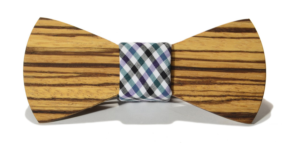 The felling interchangeable wooden bow tie zebrawood traditional