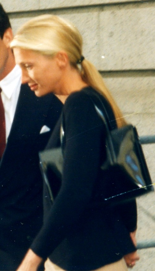 In 1996, featuring a patent leather Prada bag