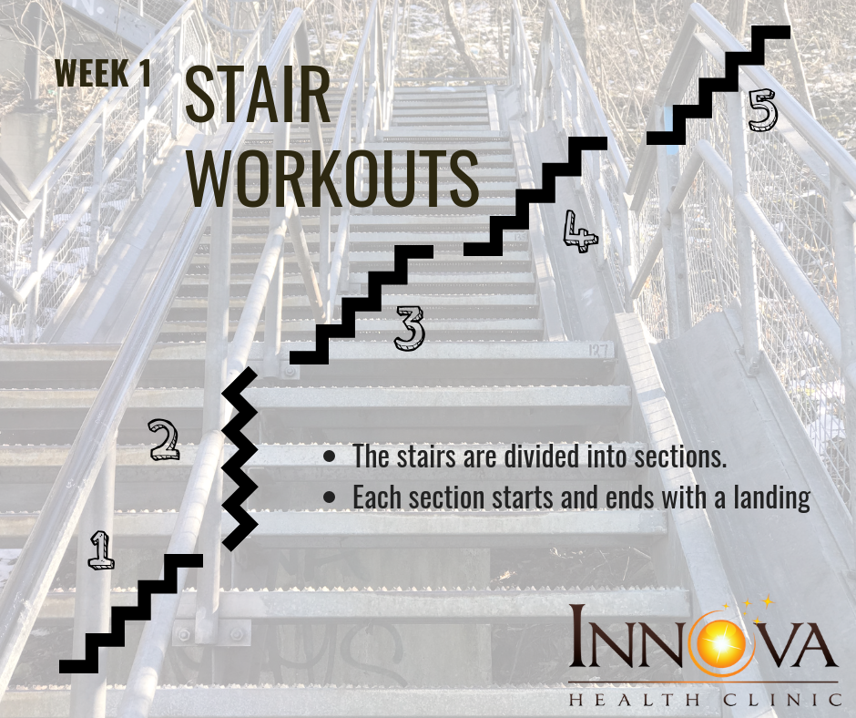 This workout can be done on any set of stairs. Just divide it into flights and get started.