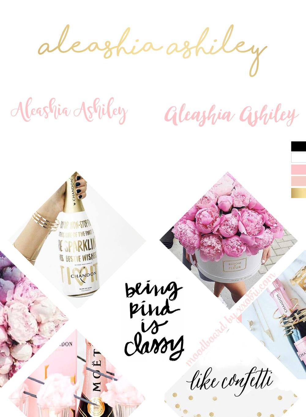 ALEASHIA ASHILEY // HEALTH & FITNESS LIFESTYLE BLOGGER // BRANDING MOODBOARD BY XXOBRI.COM