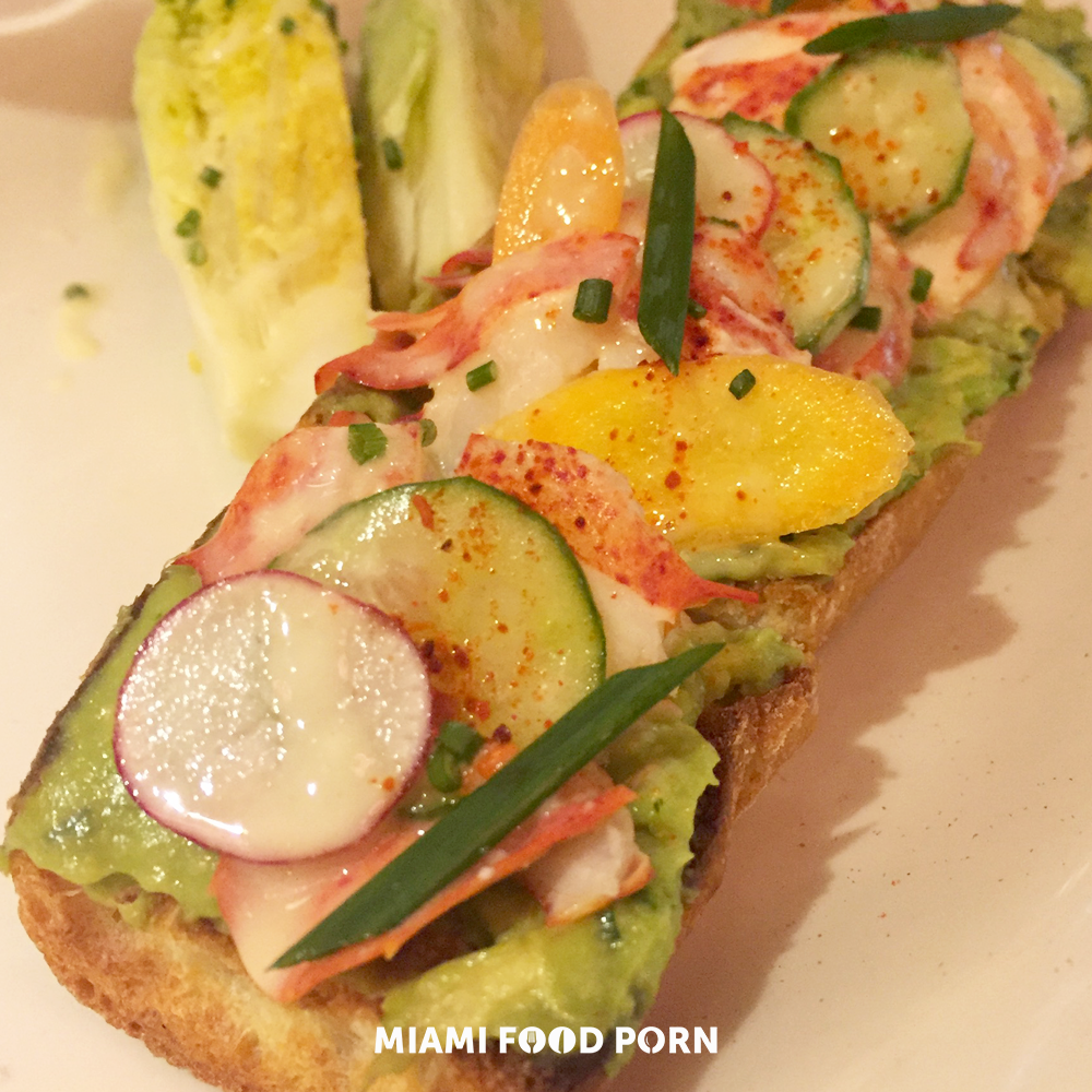 lobster tartine