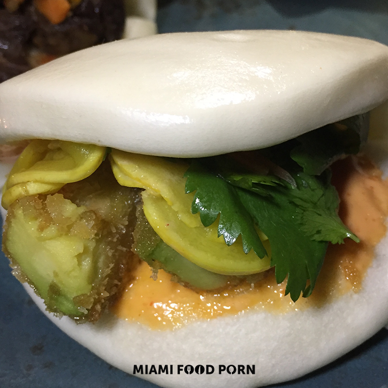 Avocado Bao (Pickled squash, cilantro, spicy mayo)