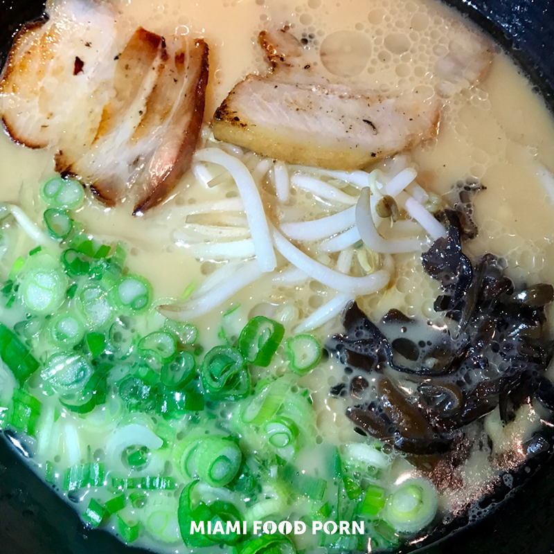 Tonkotsu, ramen noodles in a pork broth