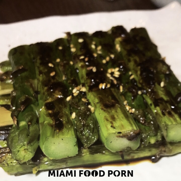 Asparagus with sweet soy sauce and sesame