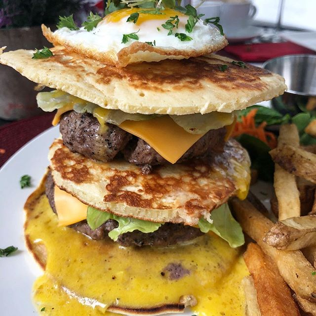 Amour-ning spent eating PANCAKE BURGERS is a morning well spent 🥞🍔 More on IG story 👀@amourdemiami #miami_foodporn