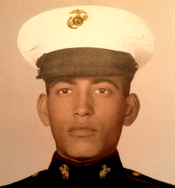 "PFC Ronald Reyes, Ron's father, who was part of the Marines unit known as ""The Walking Dead."""