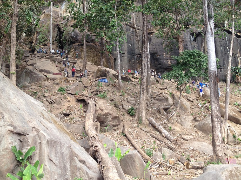 The site where Mrs. Winbush landed in Laos. Remote locations and rugged terrain make many recovery operations extremely challenging. Photo courtesy DPAA.