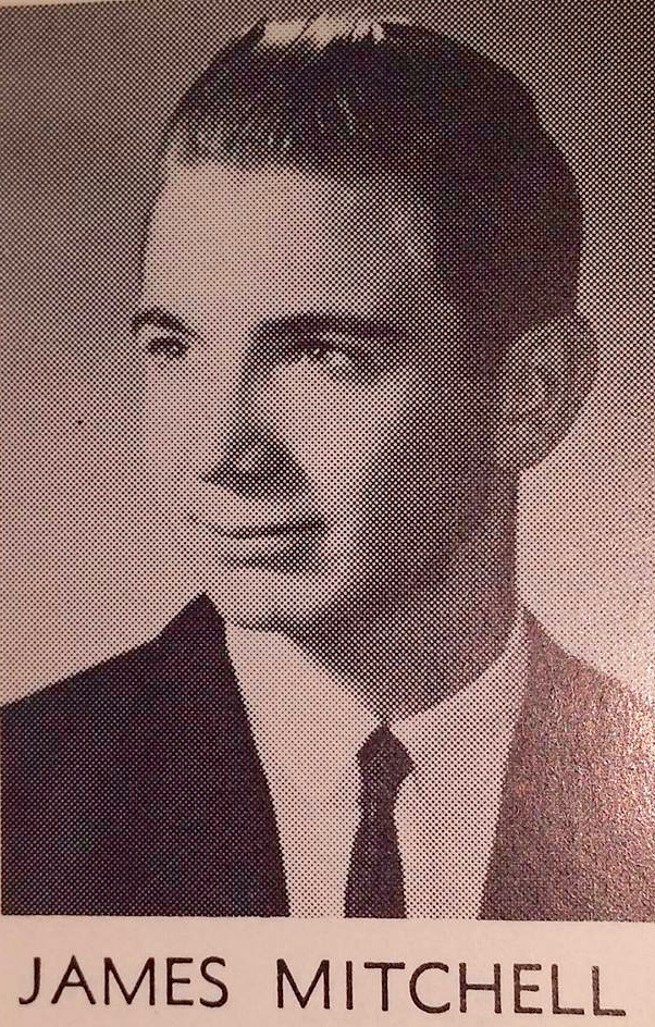 Susan's father; James Mitchell, in a picture from his high school yearbook.