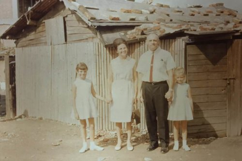 The Hubbs family in Taiwan. Jill is on the left, her sister Jayne on the right (1966)