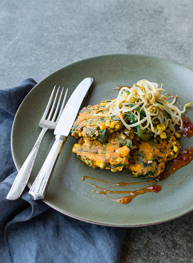 Sweetcorn and Kimchi Fritters with Mung Bean Salad.jpg.jpg