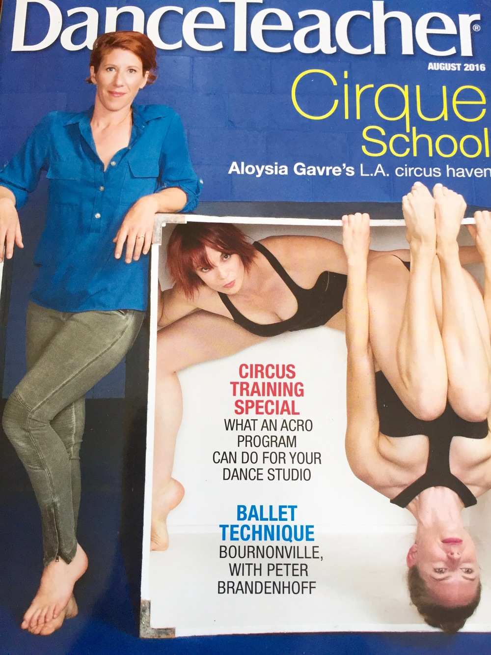 6 page cover feature story on Cirque School