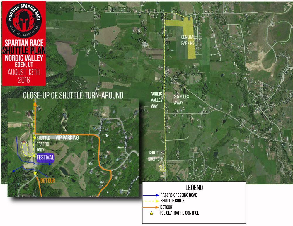 Spartan parking map