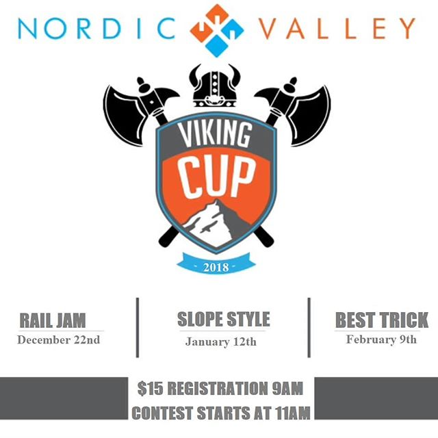 The Nordic Valley Viking Cup is back! With our first rail jam of the year on December 22nd!
