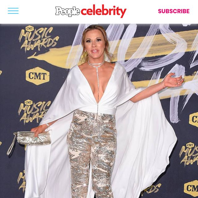 Well @johnathankayne I'd say we've done it again. @cmt Awards was a spectacular night for all... & the Best dressed list never hurts my feelings! I had such a blast... Caught up with so many friends and the show was fantastic! Congrats to all the award winners. Truly deserved. Ps... Did I mention I LOVE NASHVILLE!!! #fashion #style #redcarpet #cmtawards #BestDressed #Media #powerfulwomen #camo #sequins #pantssuit #sleeves #Cape #makeupglamour #messybun
