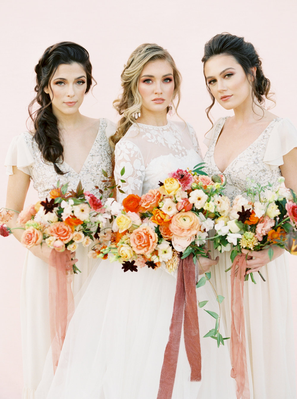 Bridal and Bridesmaids' Bouquets