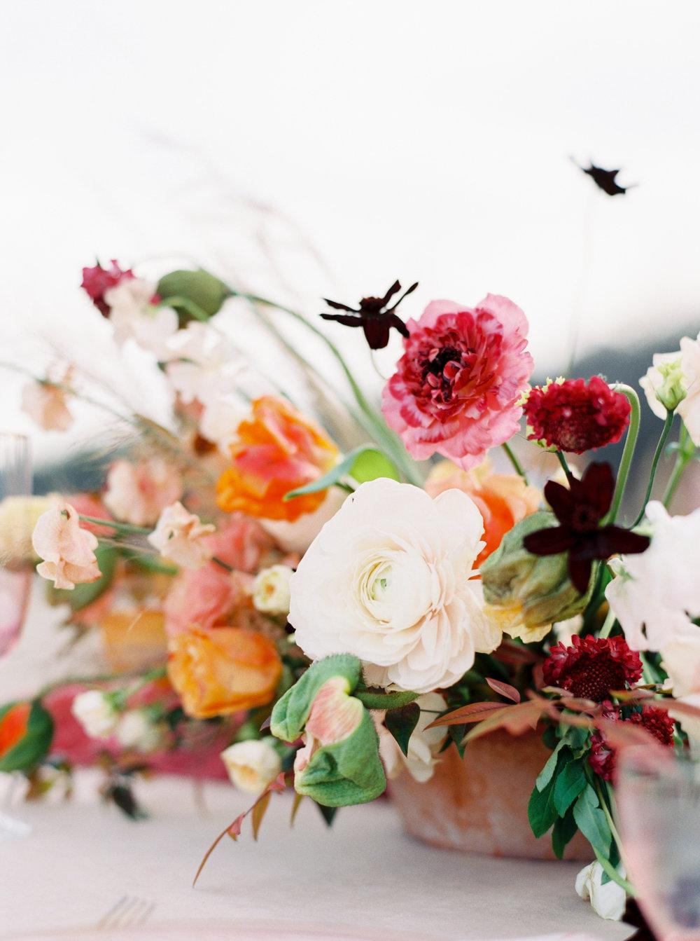 Organic Wedding Centerpiece Arrangement