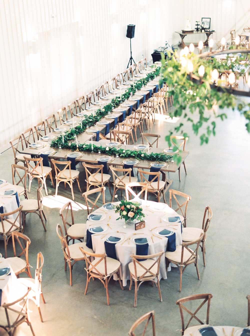 Wedding Table Garland Greenery Chandelier