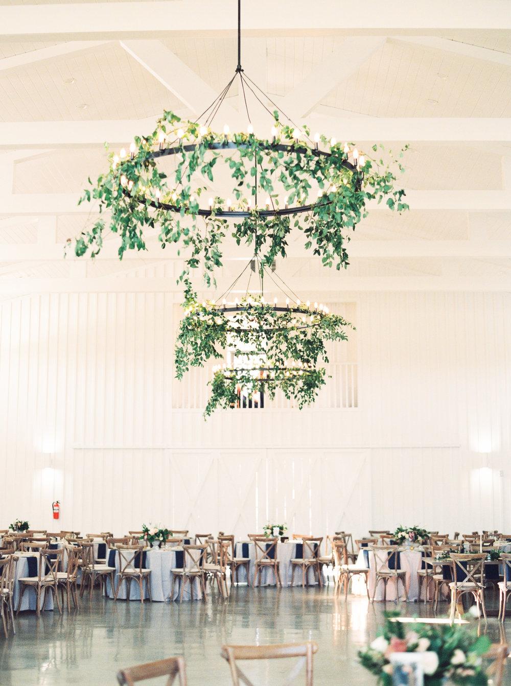 Austin Wedding Chandelier with Greenery