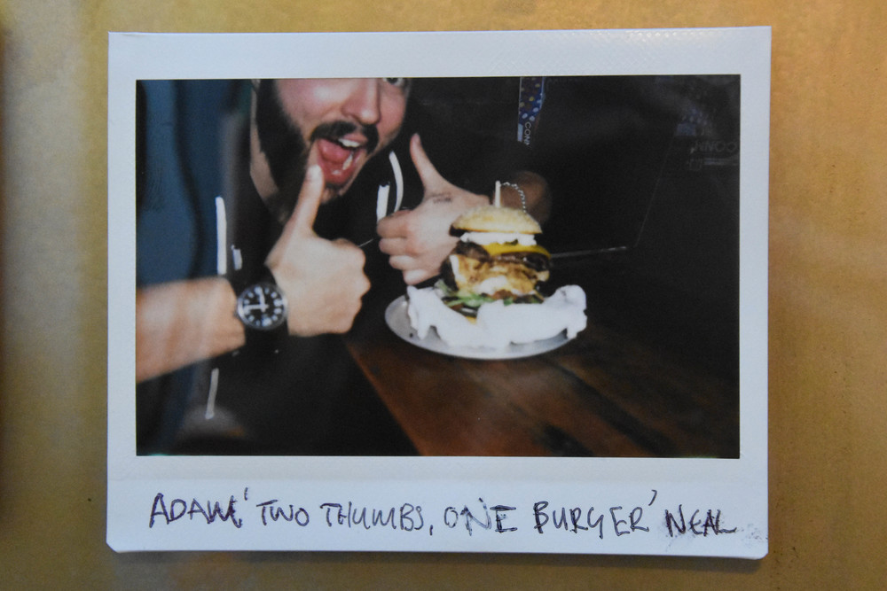"ADAM ""TWO THUMBS UP, ONE BURGER"" NEAL"