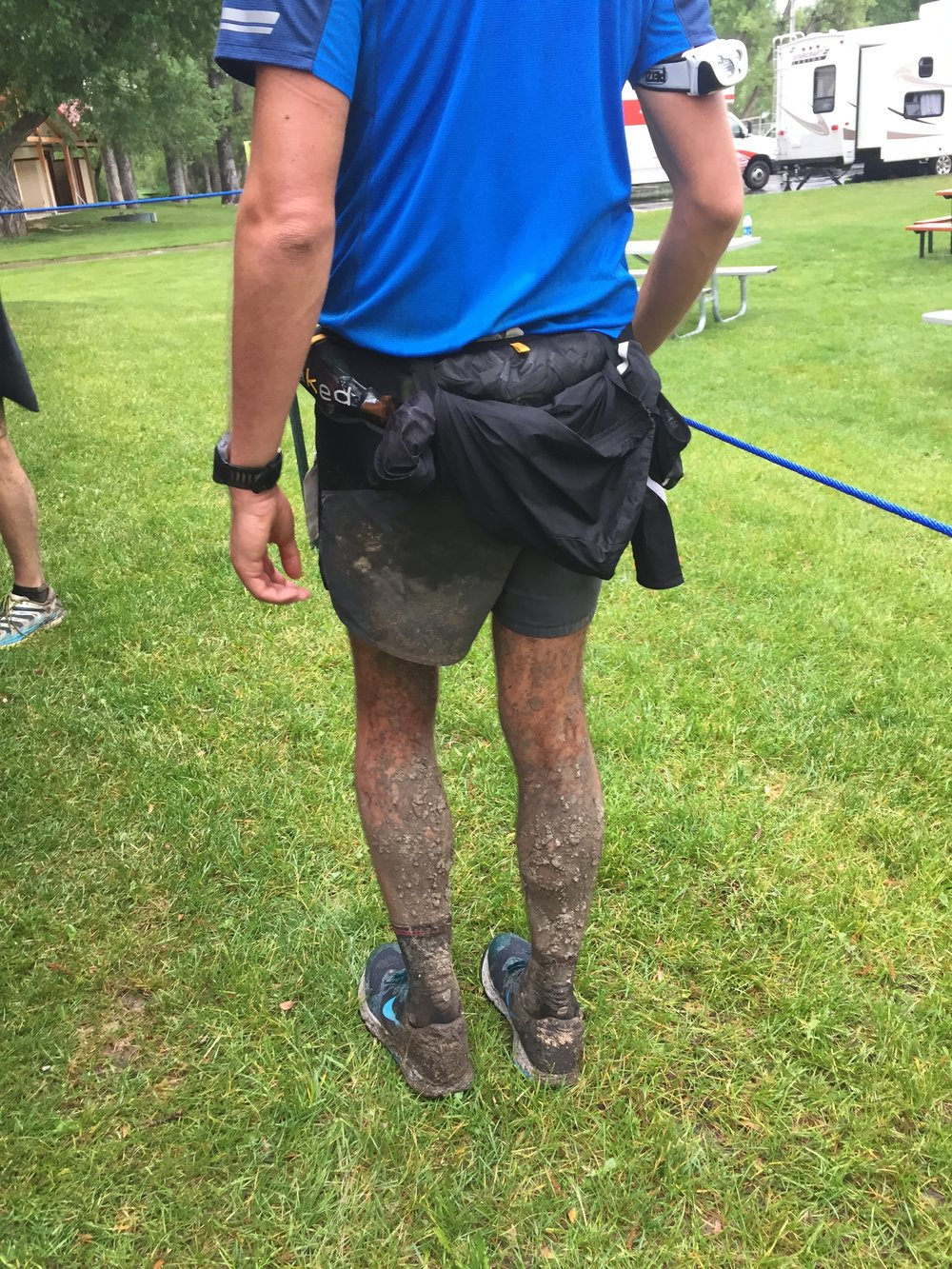Mud bath for the legs