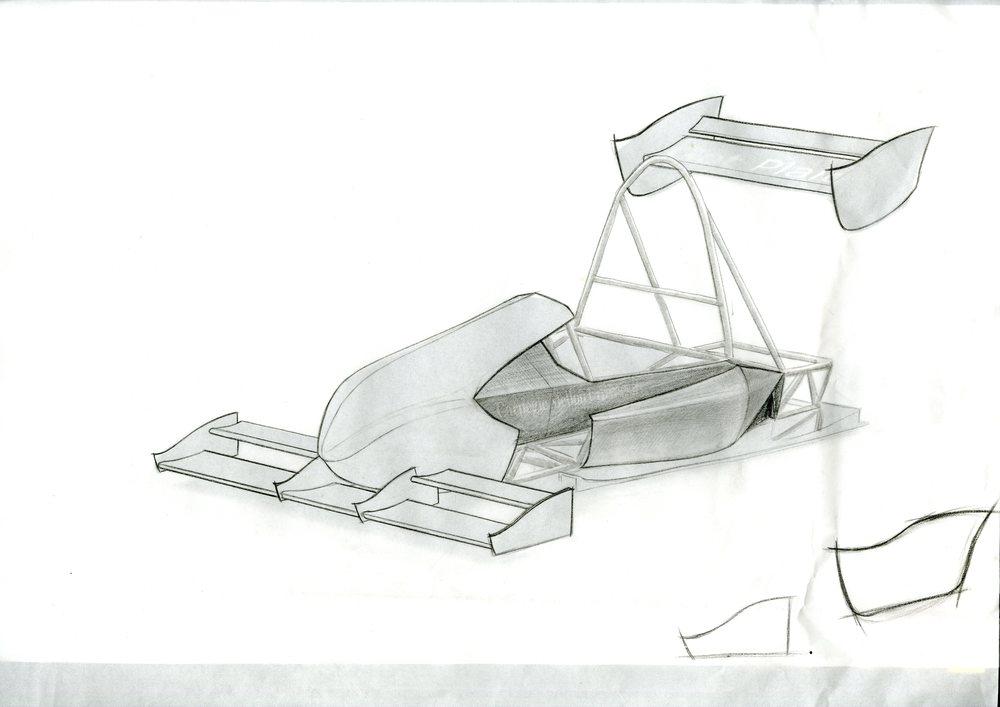 CMU Racing concept sketch
