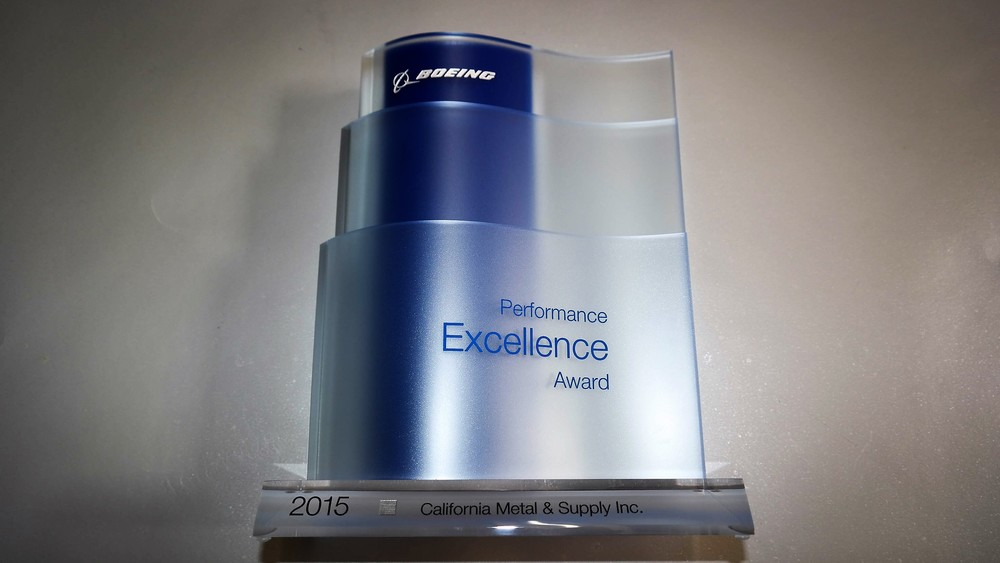 2015 Boeing Performance Excellence Award