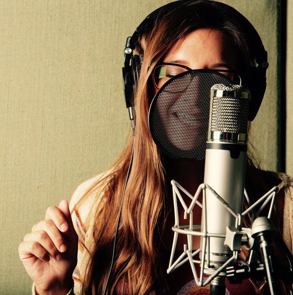 Raquel Telfer recording.jpg