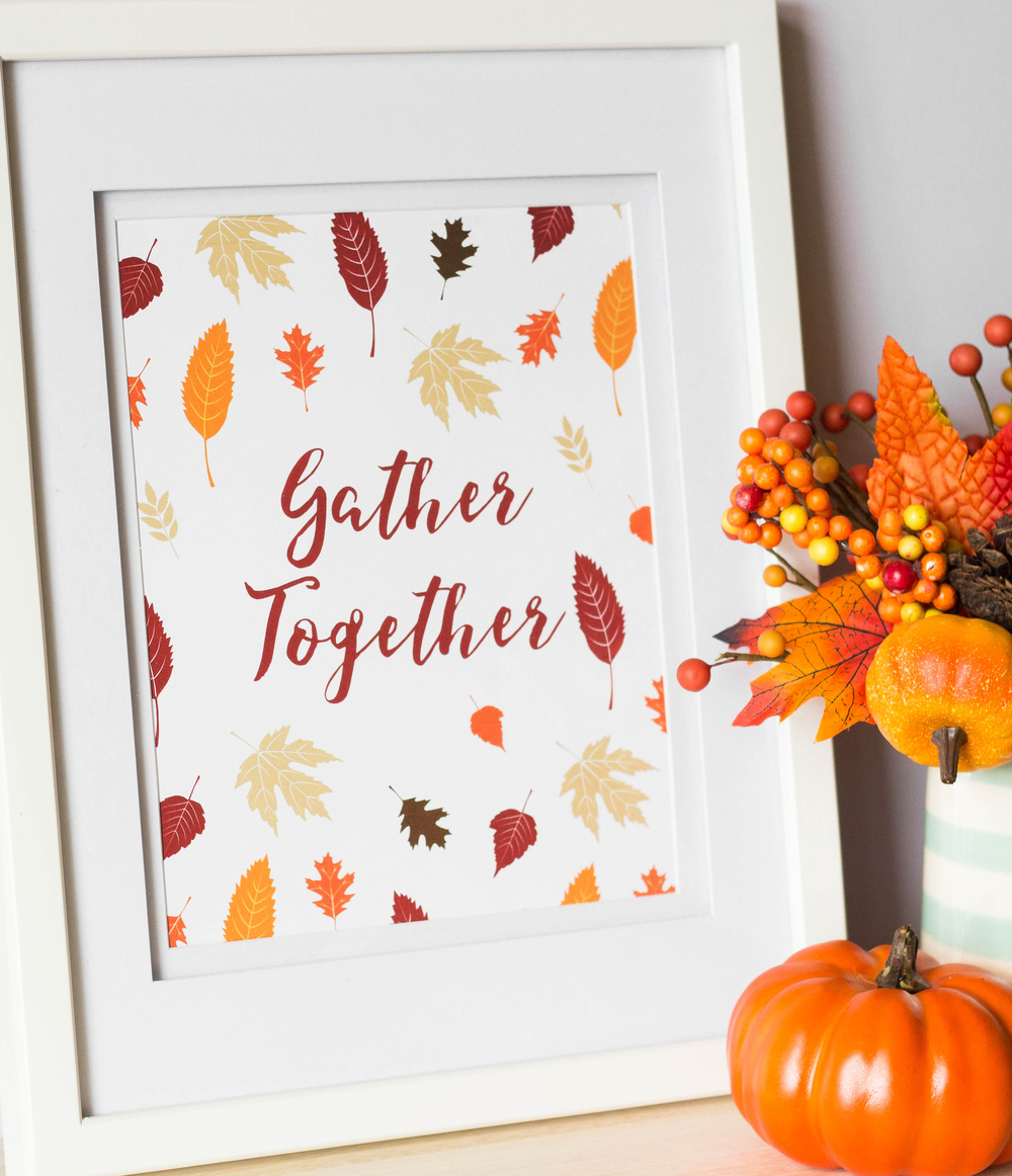 Gather Together Free Thanksgiving Printable by MKKM Designs