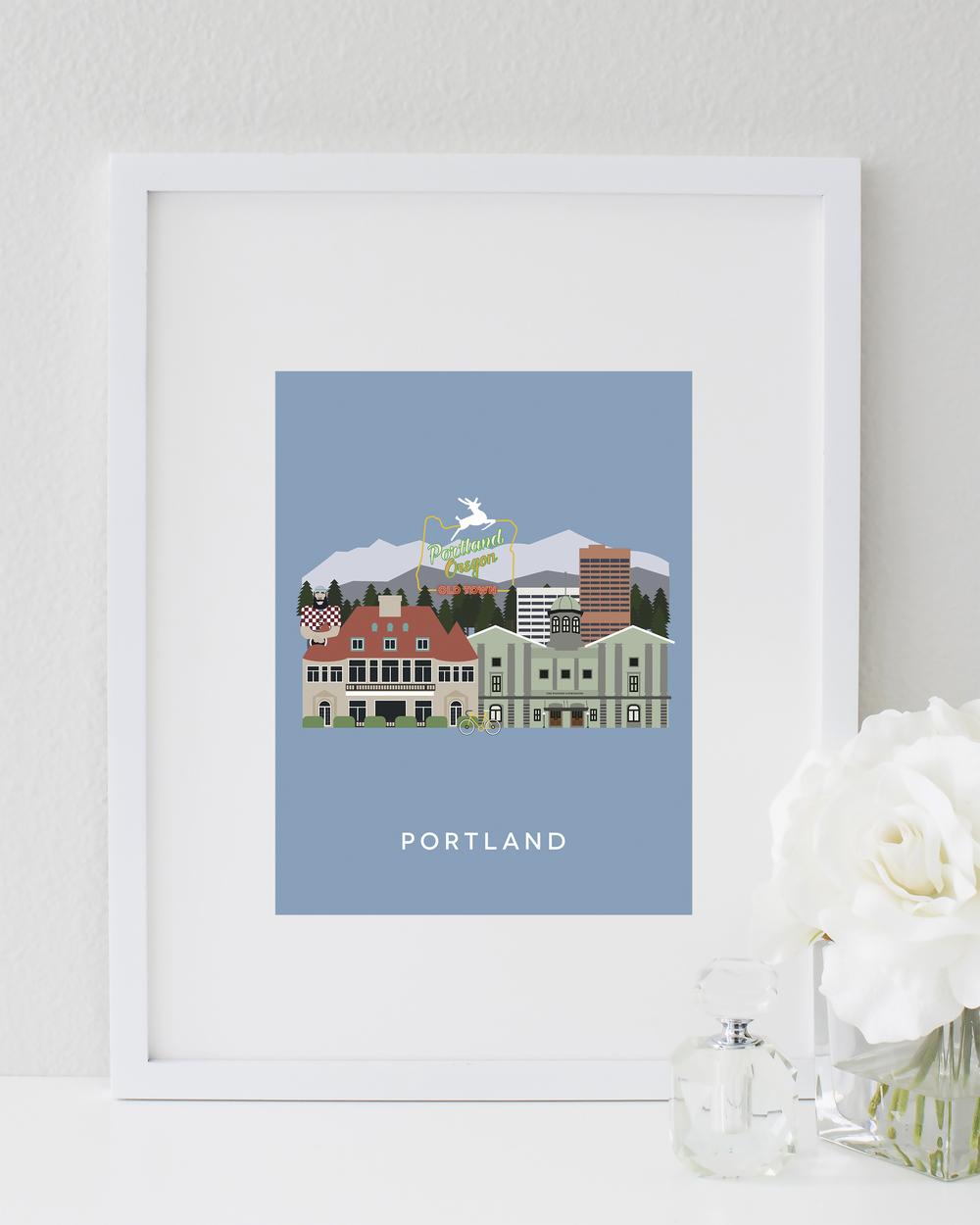 Portland City Print