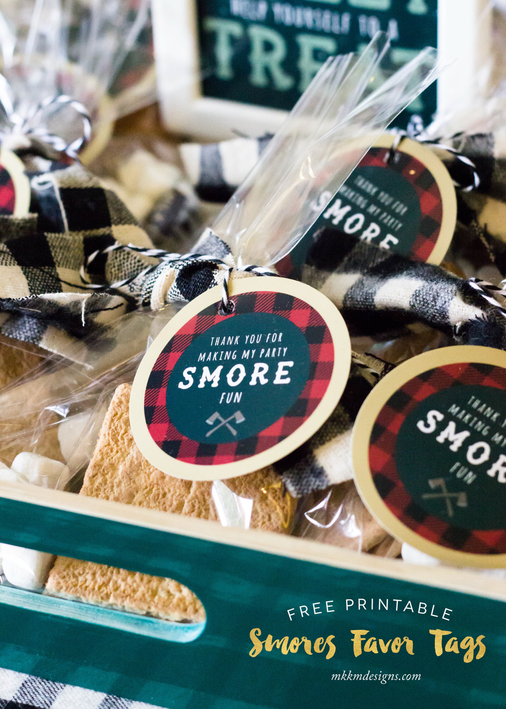 Free Printable Smores Favor Tags | MKKM Designs