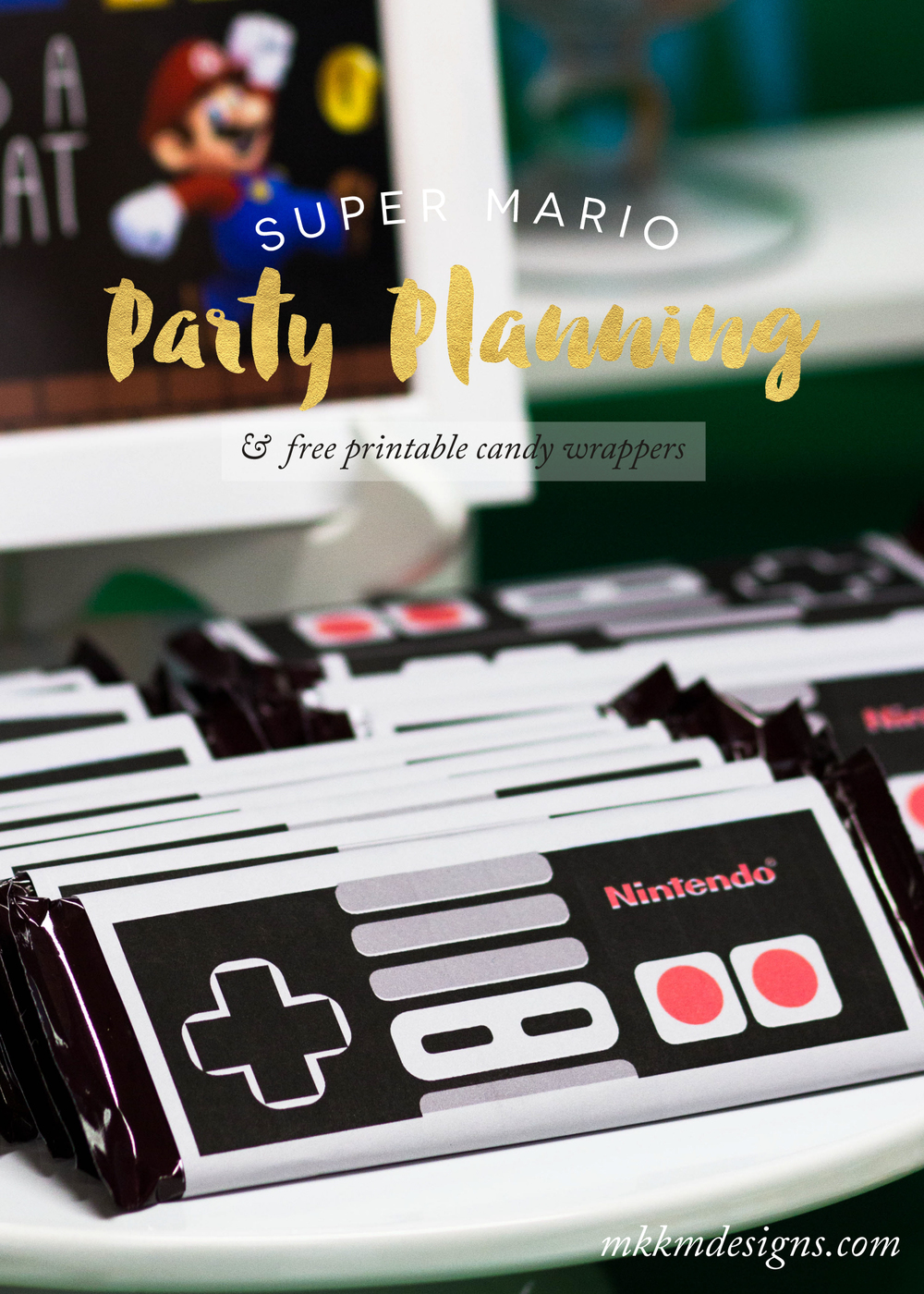 It is a picture of Soft Super Mario Party Printables