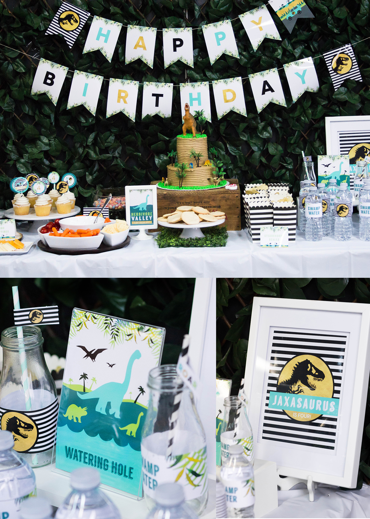 Jurassic Park Inspired Birthday Party By MKKM Designs
