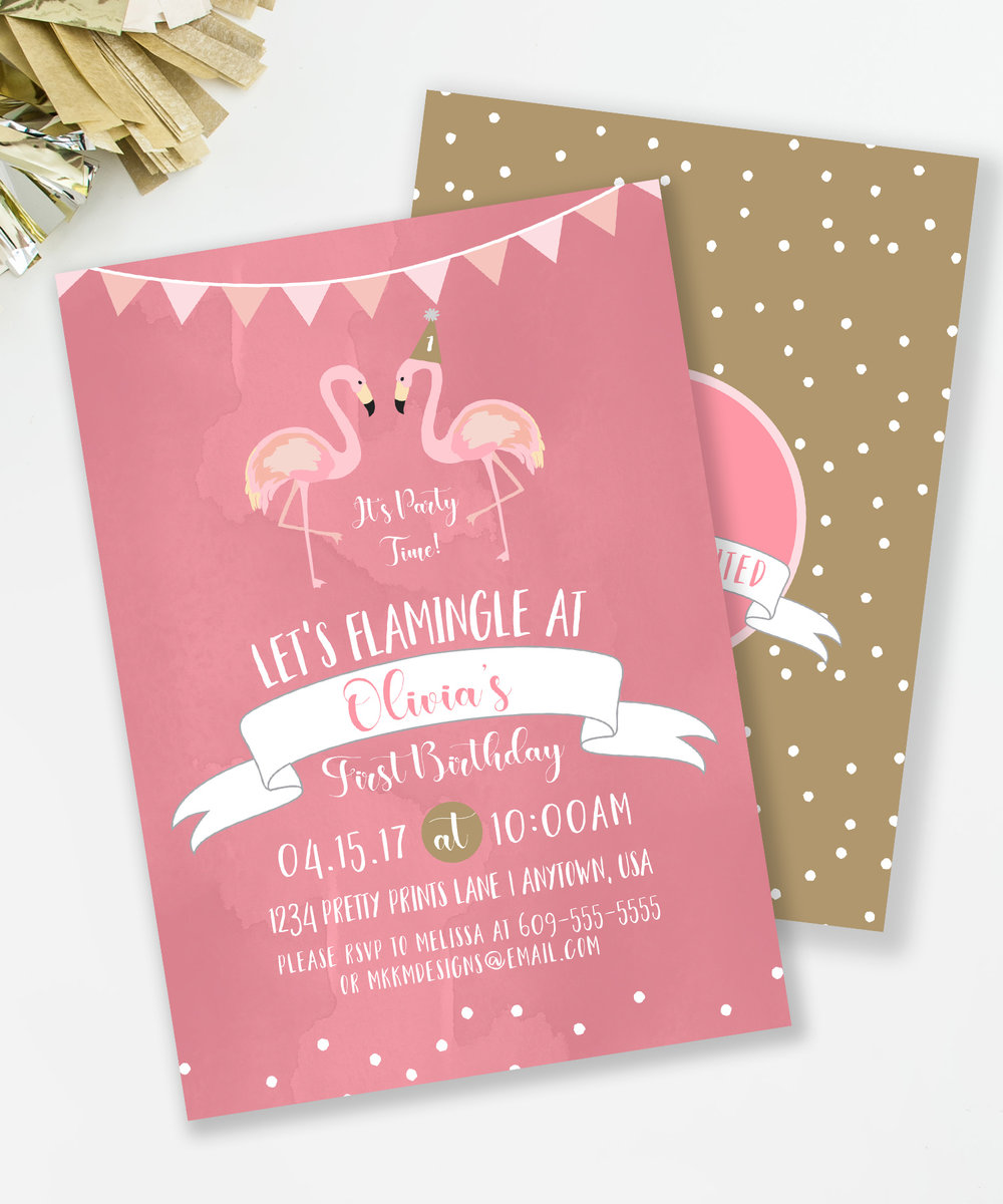 Flamingo Party Invites | mkkmdesigns
