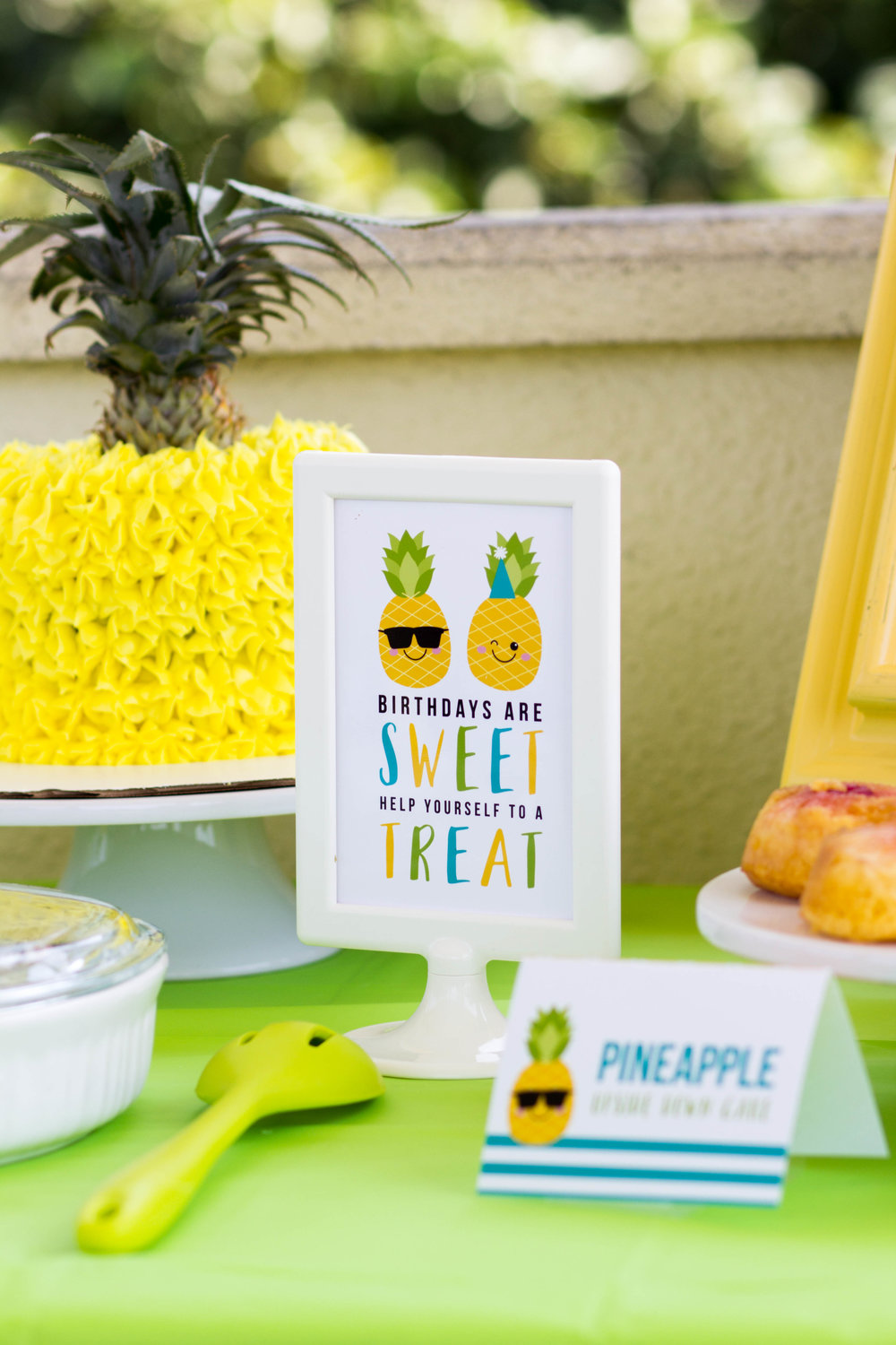Birthdays Are Sweet Pineapple Sign