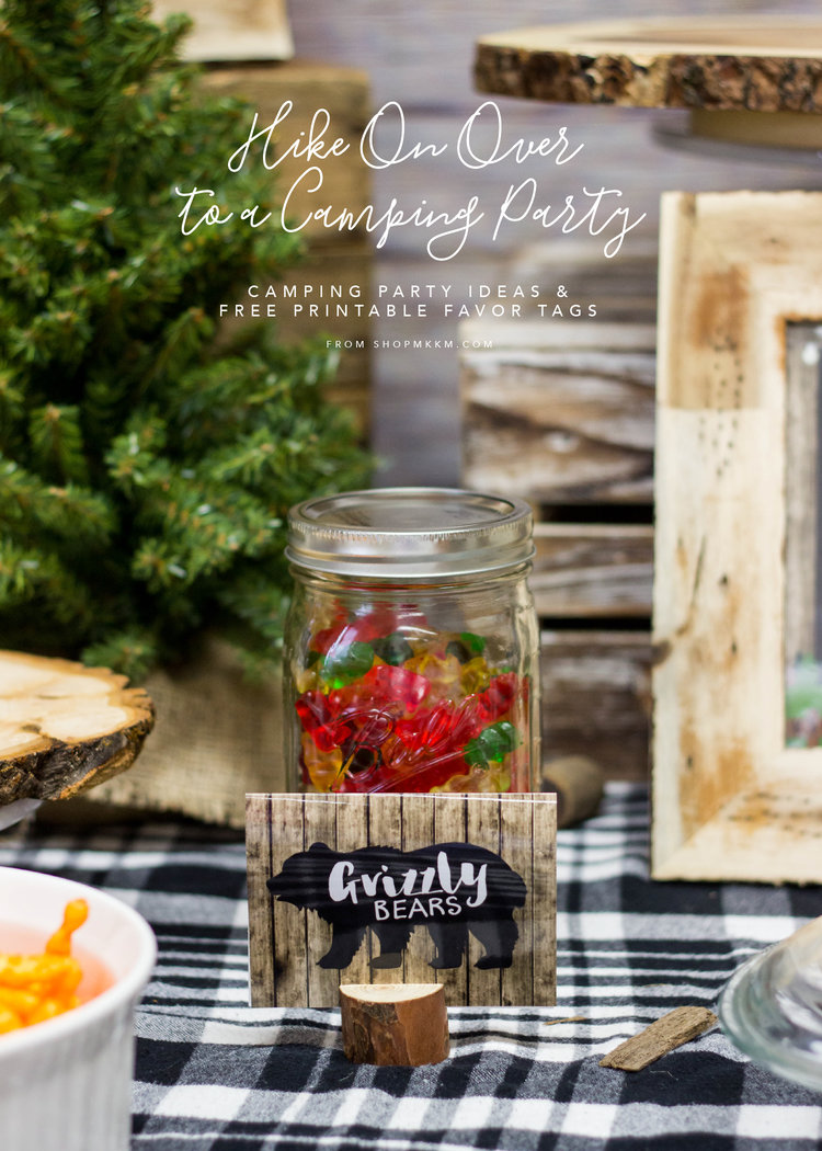 Camping Party Ideas By MKKM Designs